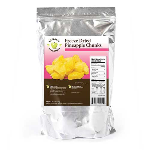 44 Servings Pineapple Pouch Legacy Premium Freeze Dried Survival Food Storage