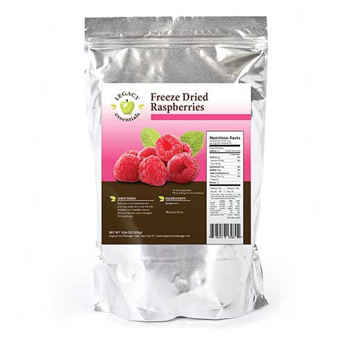 60 Servings Rasberries Pouch Legacy Premium Freeze Dried Survival Food Storage