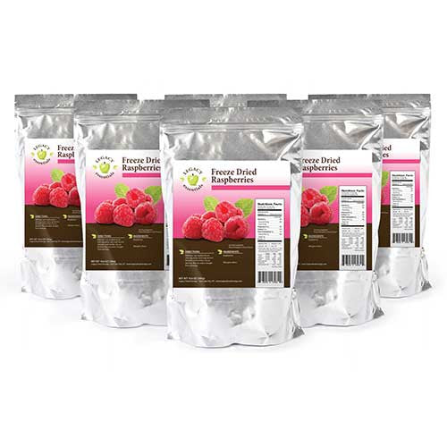 60 Servings Rasberries Pouch Legacy Premium Six Pack Freeze Dried Survival Food Storage