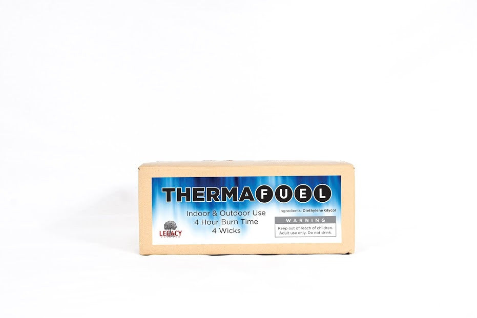 Legacy ThermaFuel is a sterno style alcohol stove that produces real flame from a gel fuel cell