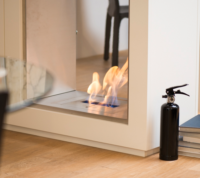 Ethanol Fireplaces<br>Extinguisher 黒