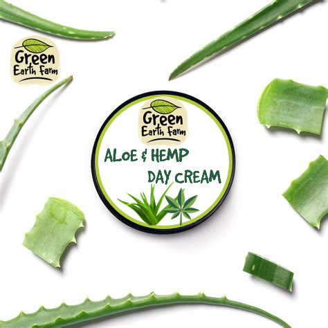 Green Earth Farm | Aloe & Hemp Face Cream | Soothing & Light Face Cream