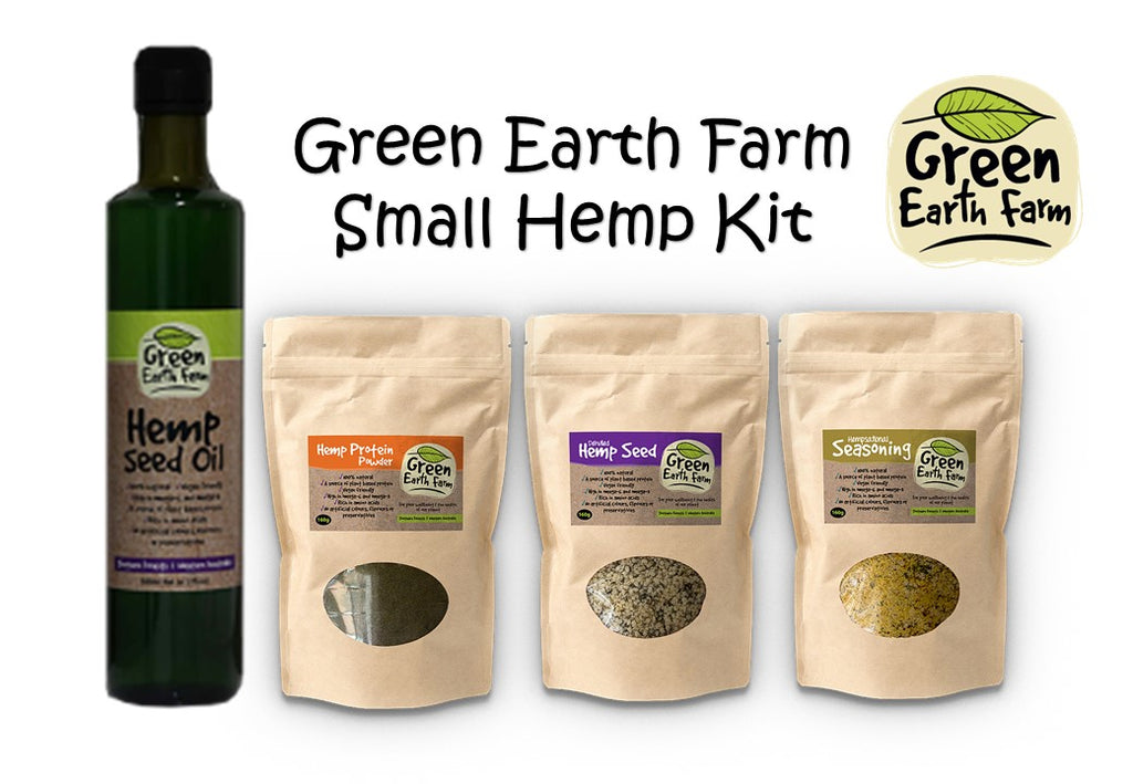 Green Earth Farm Hemp Food Kit | Hemp Seed | Hemp Oil | Hemp Kit