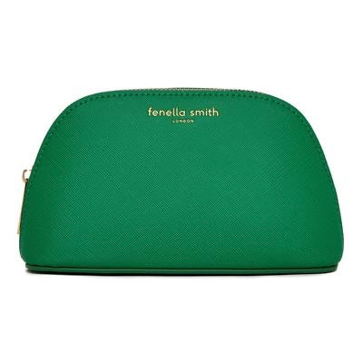 Fenella Smith - Green Vegan Leather Oyster Cosmetic Case