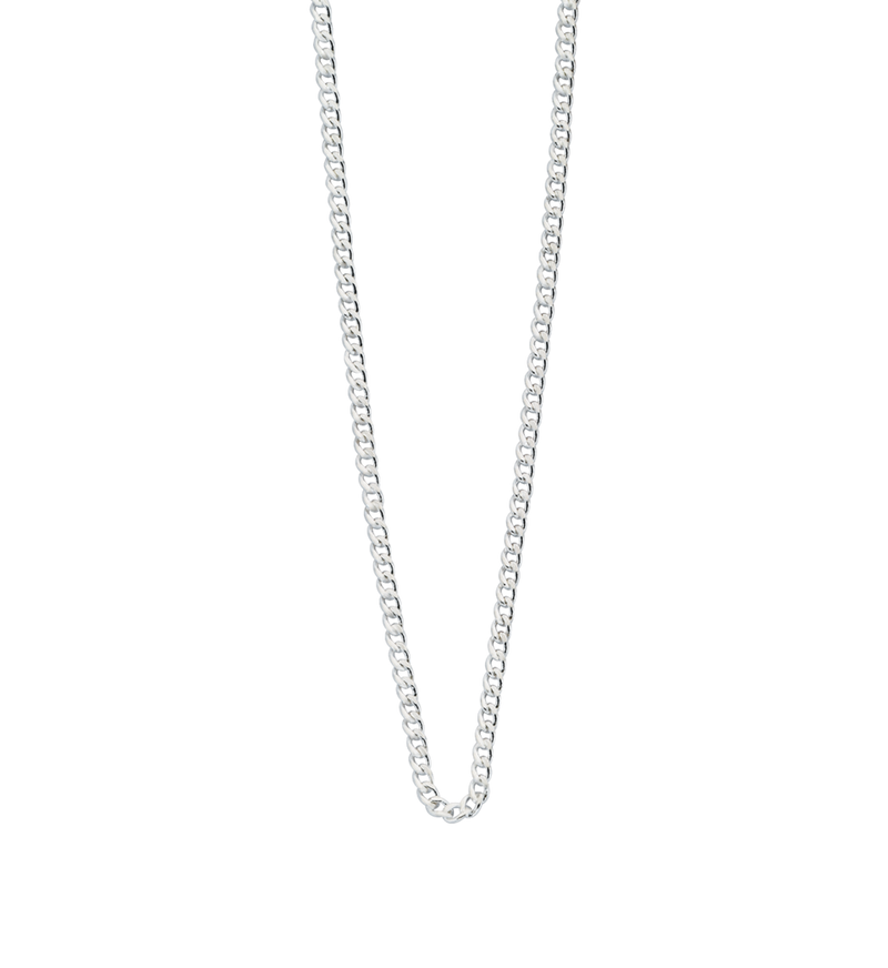 "Bespoke Curb Chain 16"" to 18"" (sterling silver)"