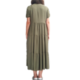 Tiered Long Dress - Military