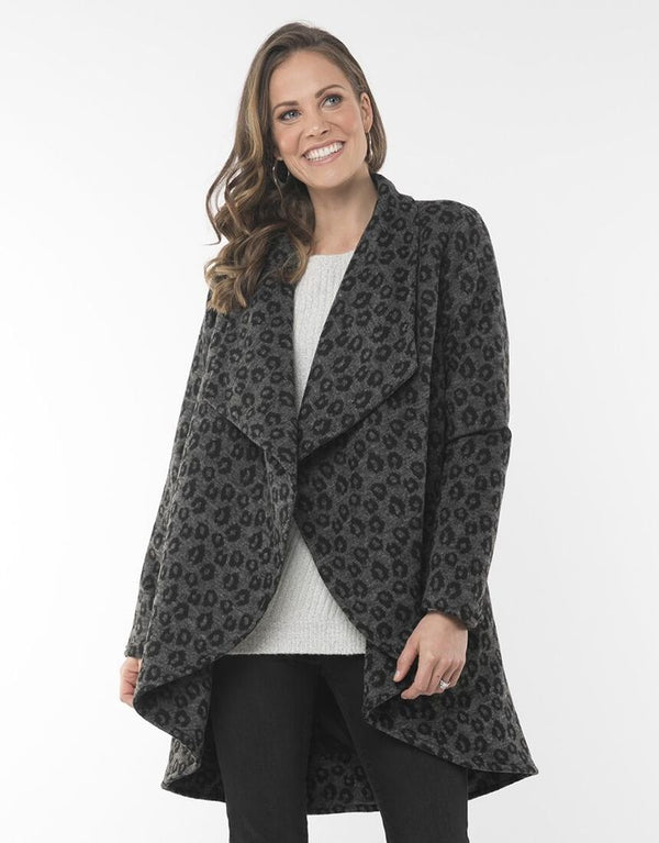 Elm Alba Animal Coat - Grey