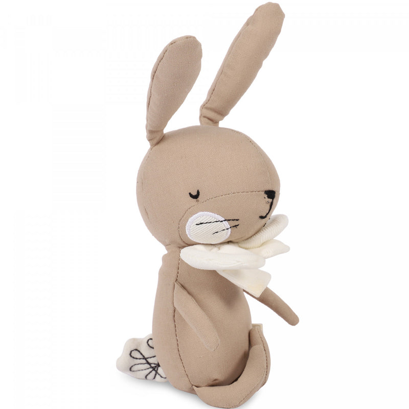 Corduroy Rabbit with Bow Tie Soft Toy in Pink