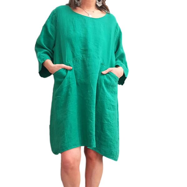 Dress with Pockets - Emerald
