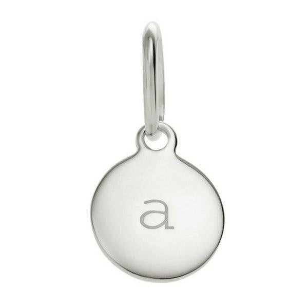 Circle Initial a-z (Sterling-Silver)