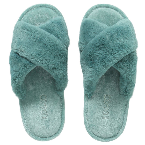 Jade Green Womens Slippers