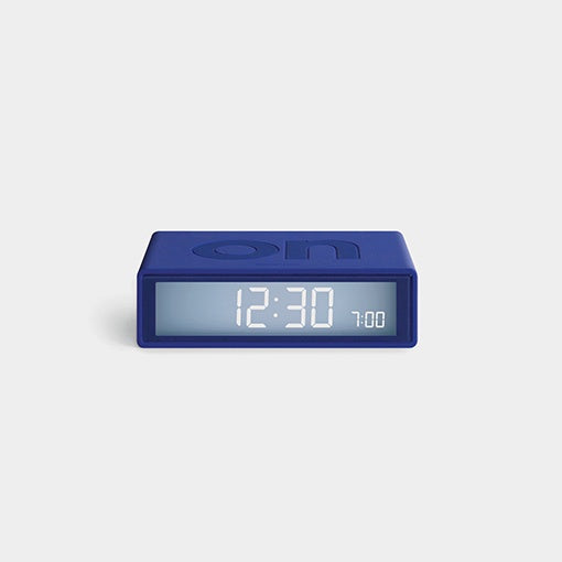 Lexon Flip Travel Alarm Clock - Blue