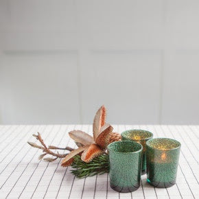 Glitter Tea Light Holder in Pine