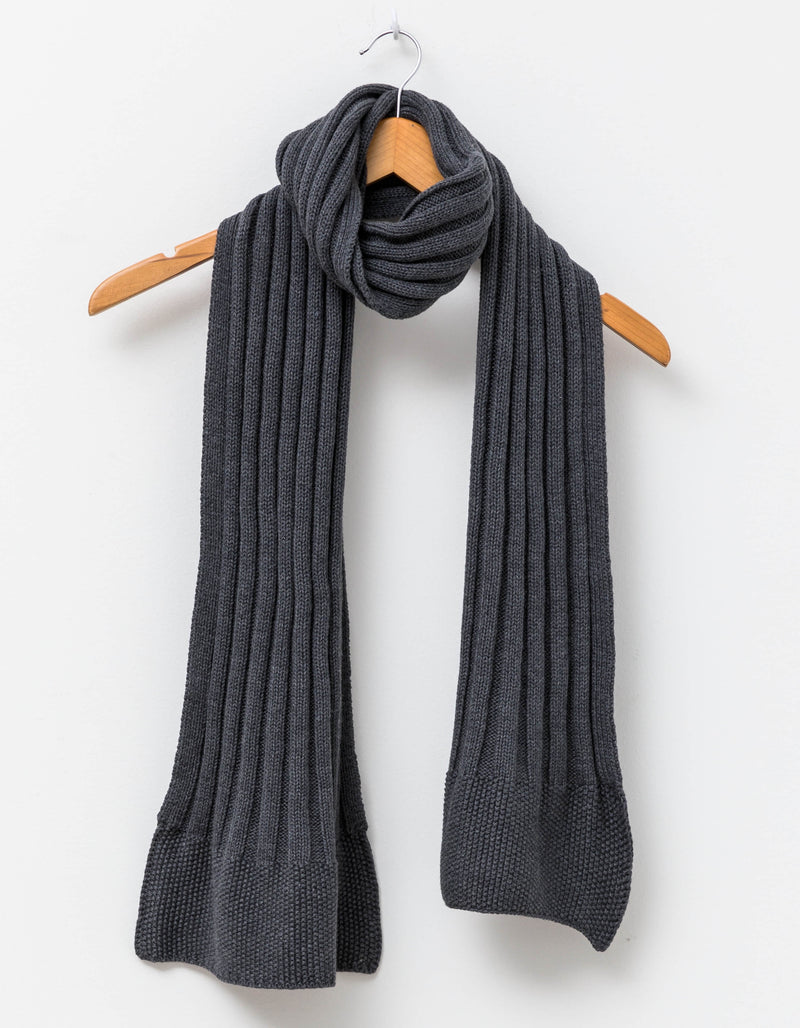 SG Scarf Rib Knit Grey