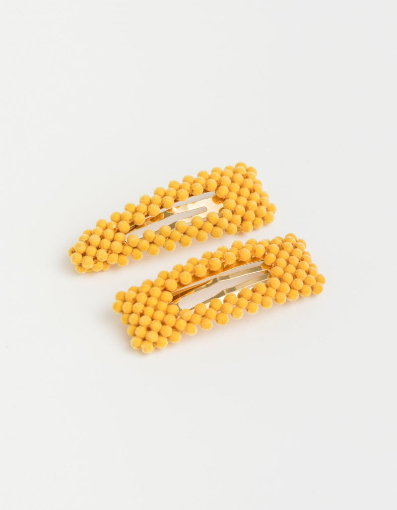 SG Hair Clip Bubble Mustard