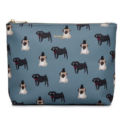 Fenella Smith - Pug Vegan Leather Wash Bag