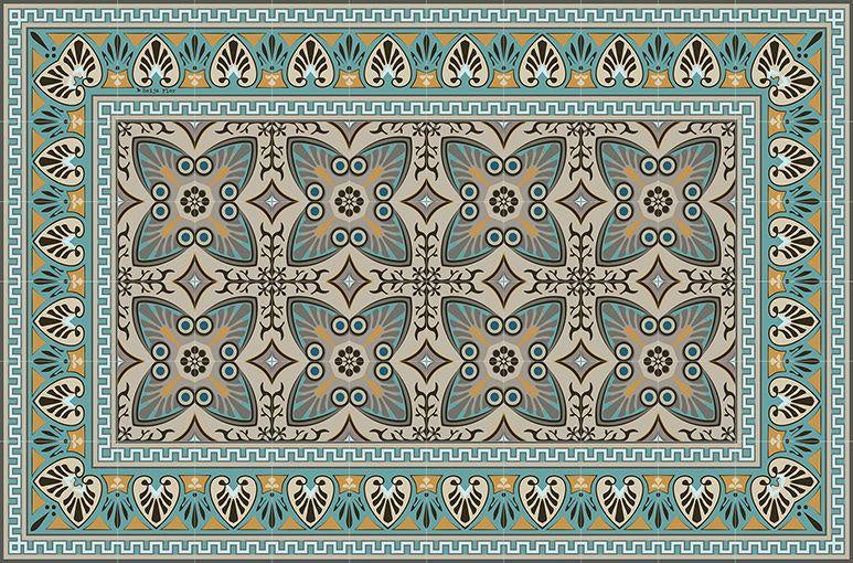 Placemat Brown & Turquoise