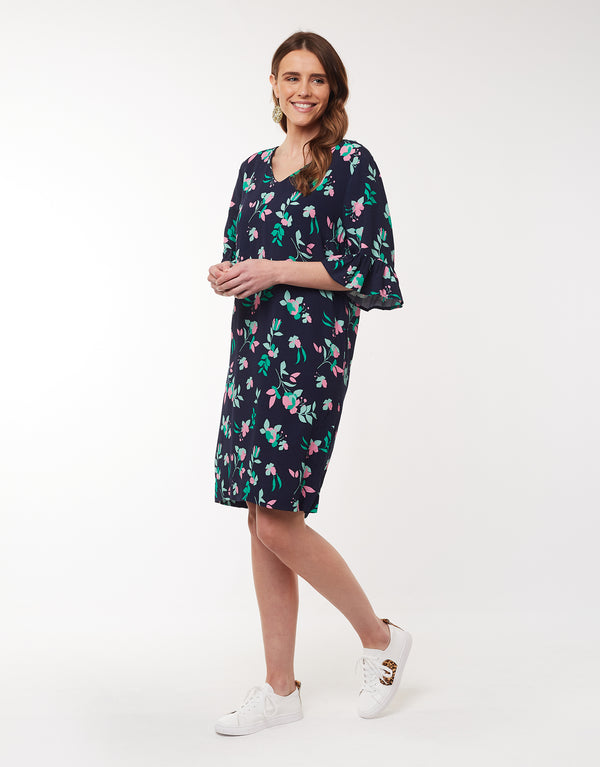 Elm - Magnolia Shift Dress - Navy