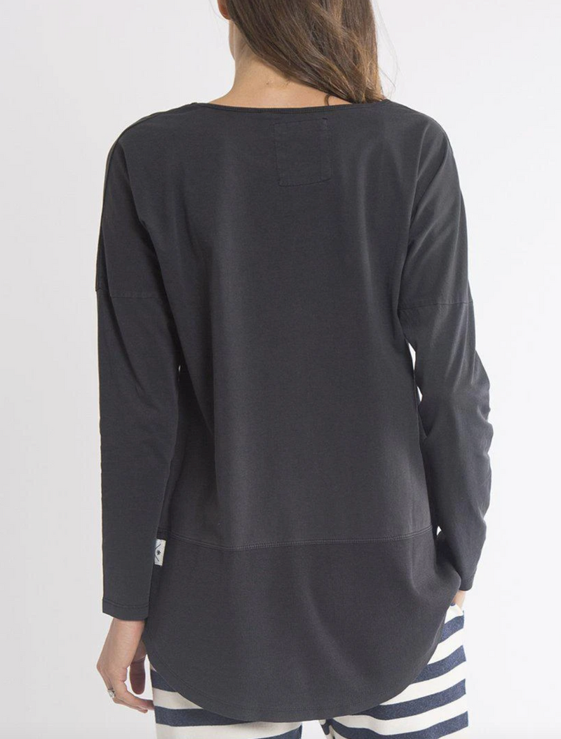 Elm - Fundamental Rib LS Tee - Black