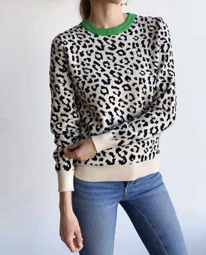 Green Neck Animal Knit