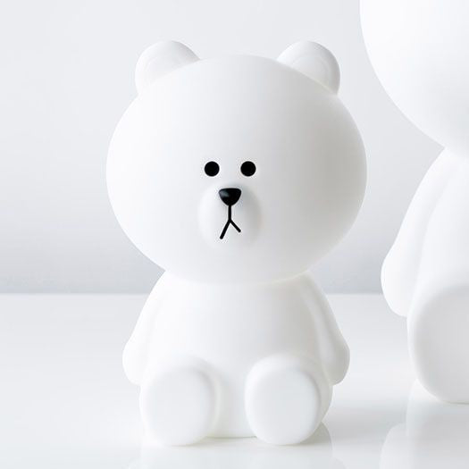 MR Maria Line Friends Brown White Bear Lamp Small