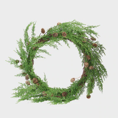 Wreath Green With pinecone