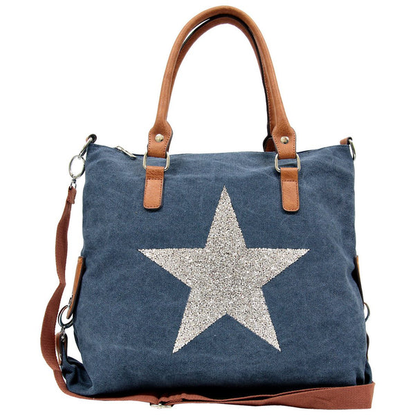 Star Power Canvas Bag - Denim