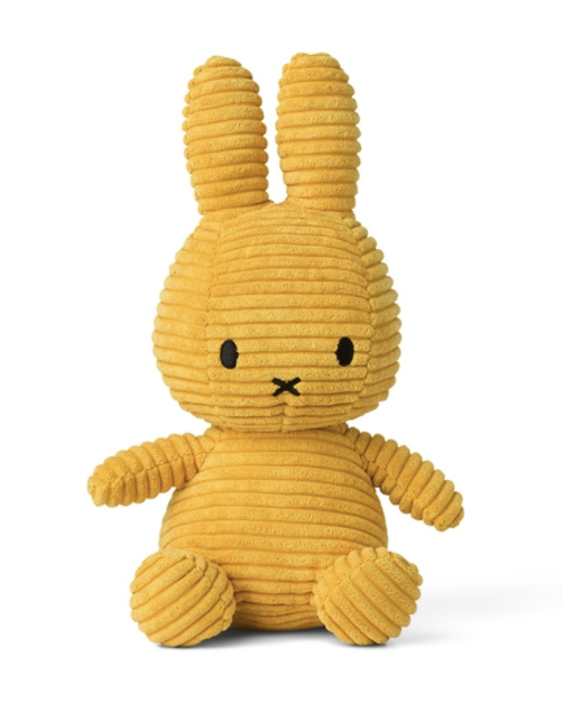 Miffy Sitting Corduroy Yellow 23 cm