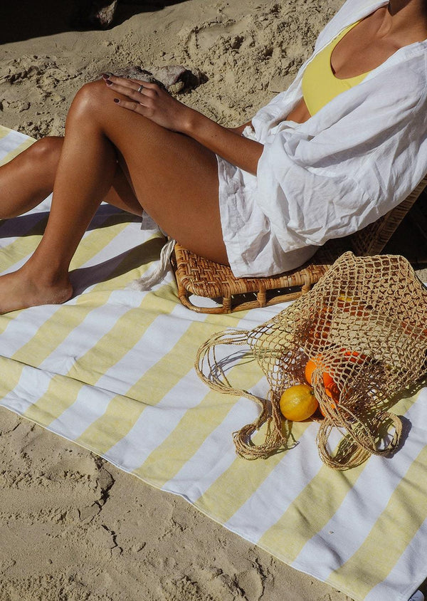 Sand Free Cabana Towel - Sunshine Yellow