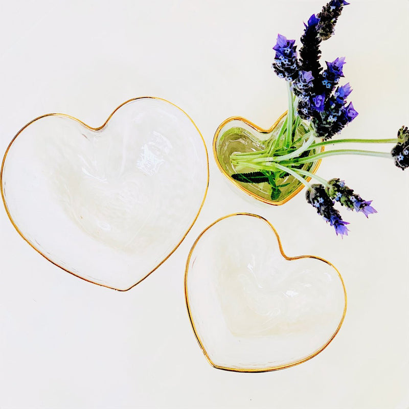 Juliet Heart Bowl Clear - Medium