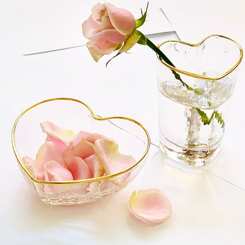 Juliet Heart Bowl Clear - Large