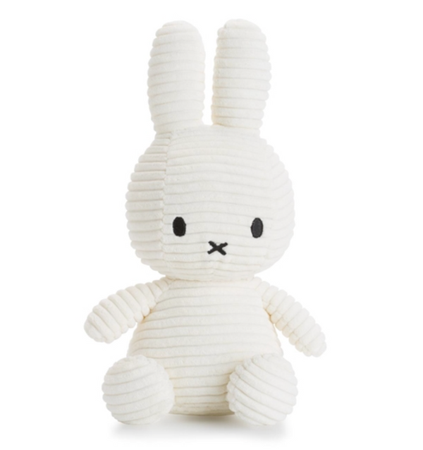 Miffy Sitting Corduroy Off White 23 cm