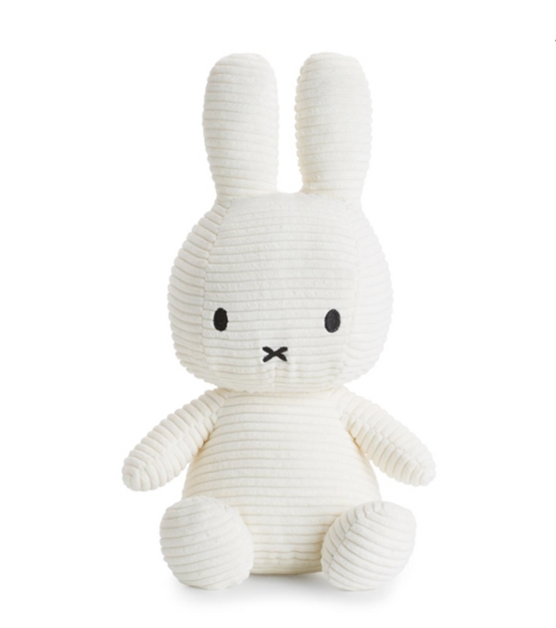 Miffy Sitting Corduroy Off White 33 cm