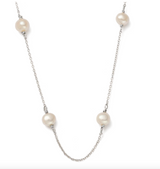 Moon Tide Pearl Necklace (sterling silver)