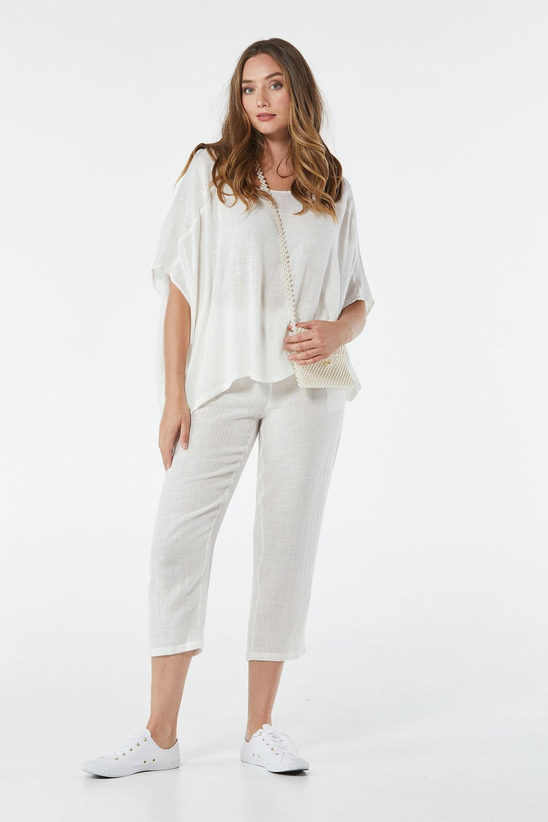 365 Days Casual Linen Pants - White