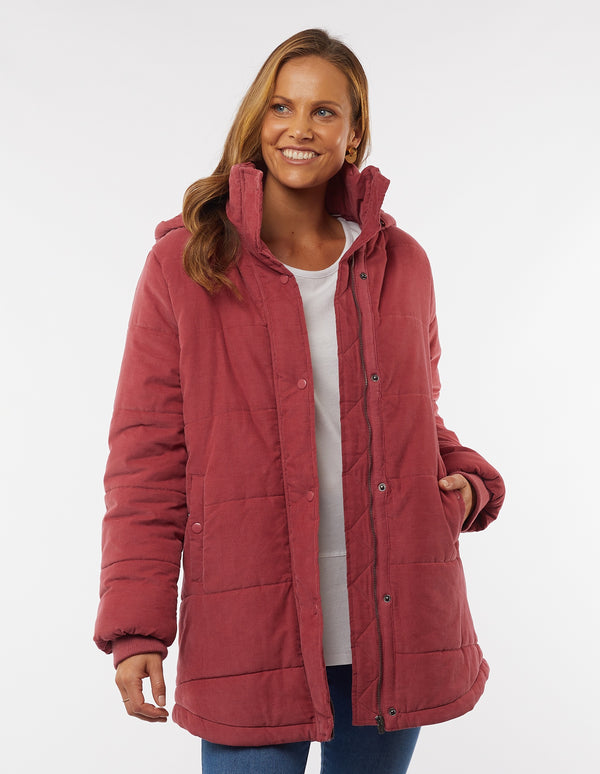 Elm - Elsa Puffer Jacket - Rose