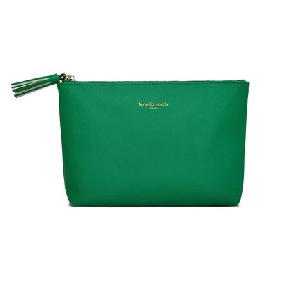 Fenella Smith - Green Vegan Leather Wash Bag