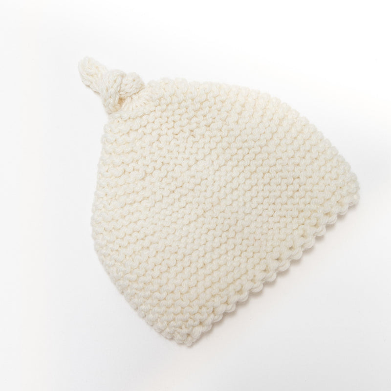 Knitted by Nana Beanie Cream