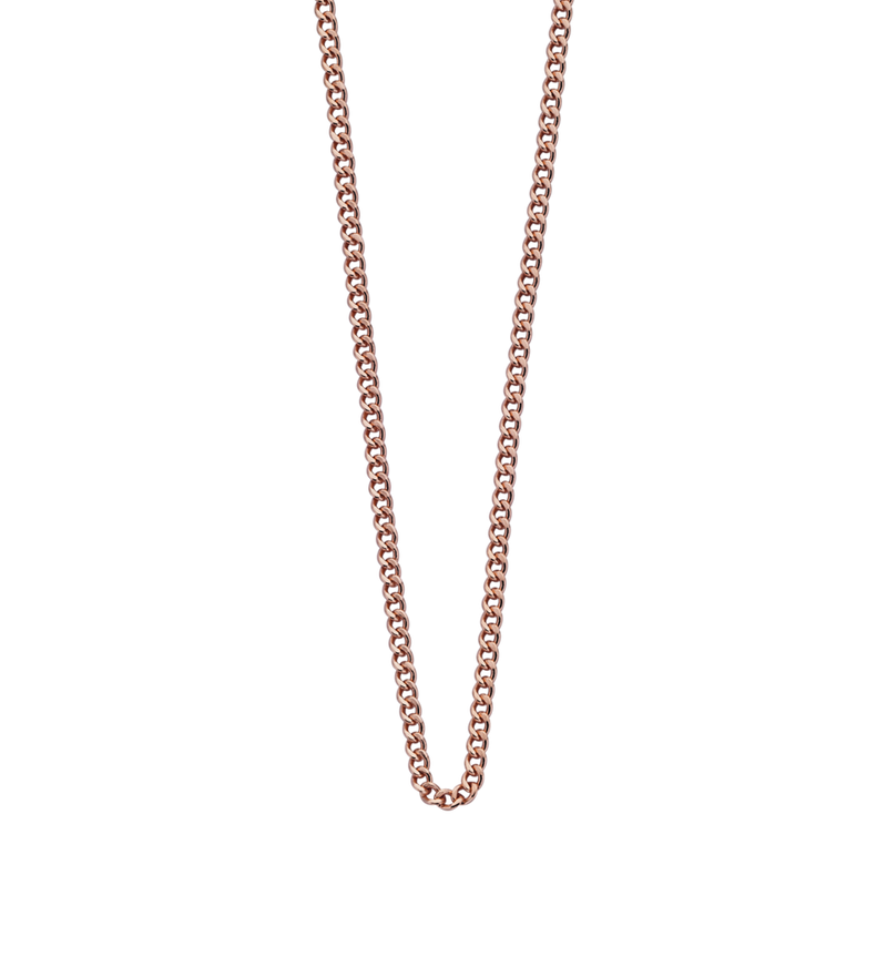 "Bespoke Curb Chain 16"" to 18"" (18k-rose gold-vermeil)"