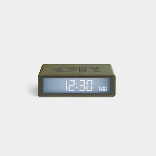 Lexon Flip Travel Alarm Clock - Khaki