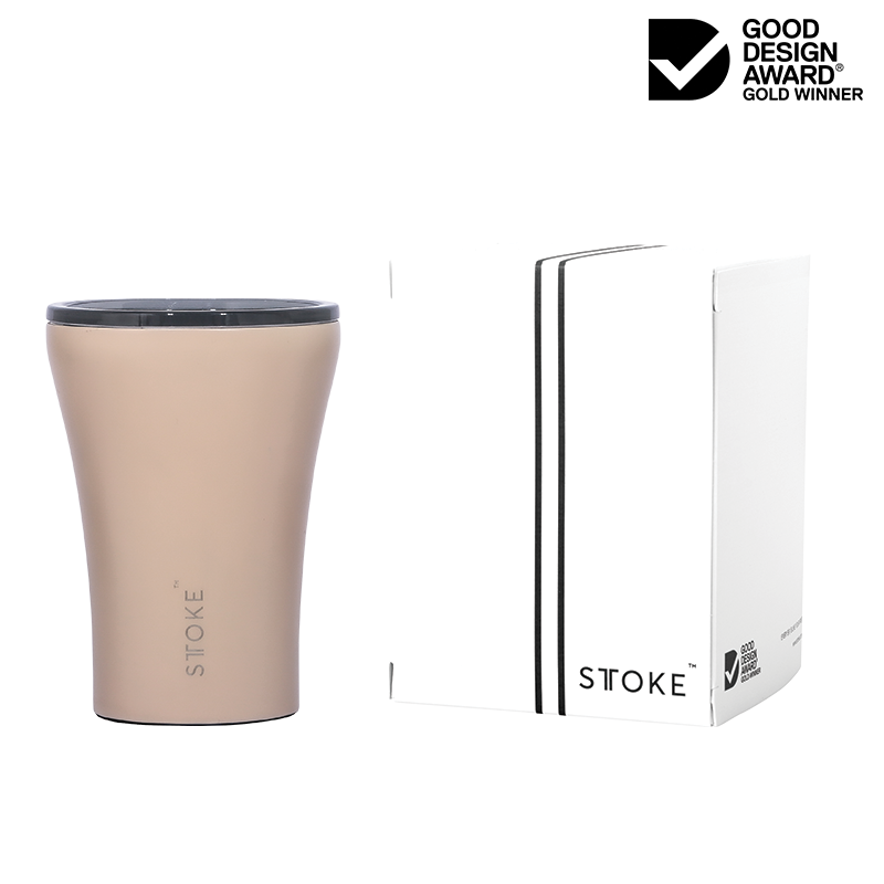 Sttoke Ceramic Reusable Cup 8oz Ivory Chai