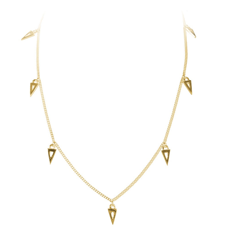 Triangle Charm Necklace Gold