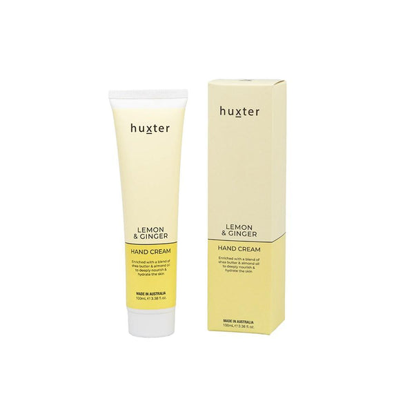 Hand Cream - Pale Yellow 100ml - Lemon & Ginger