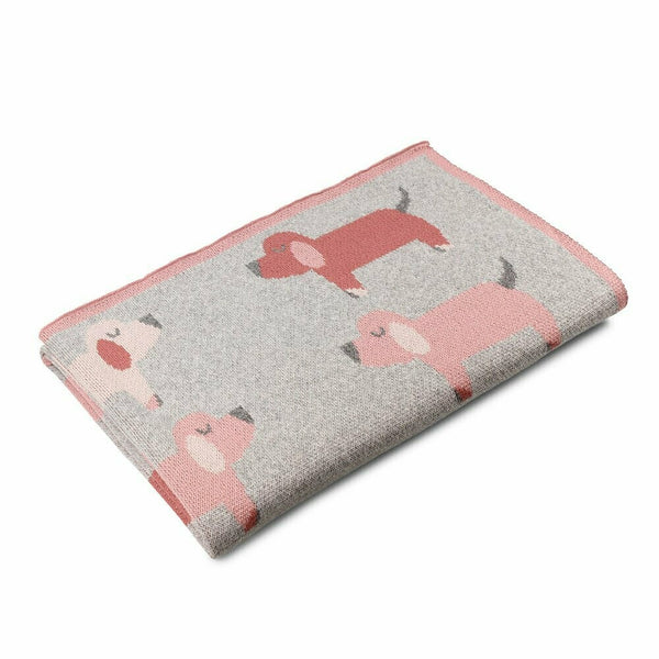 Puppies Cotton Baby Blanket - Blossom