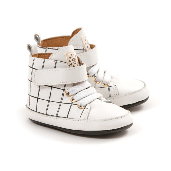 Hi Top White Grid / Small
