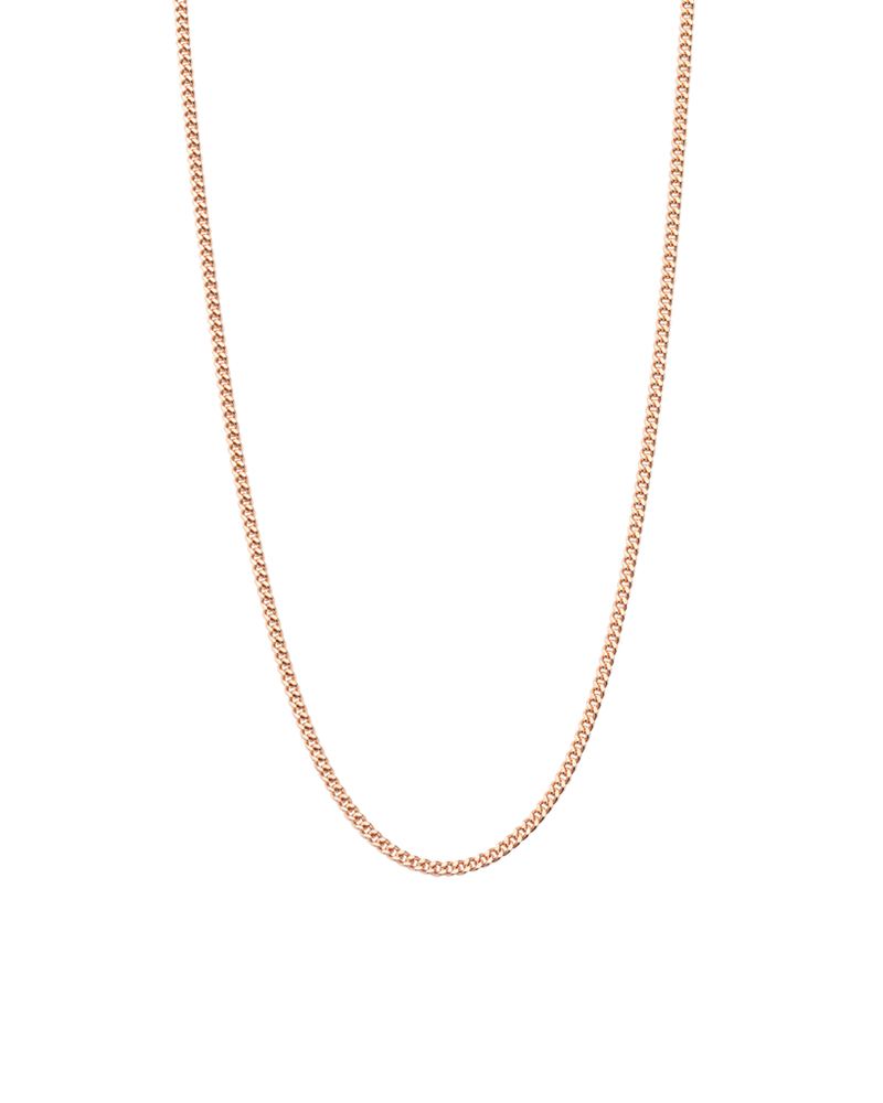 "Bespoke Curb Chain 22"" to 25"" (18k-rose gold-vermeil)"