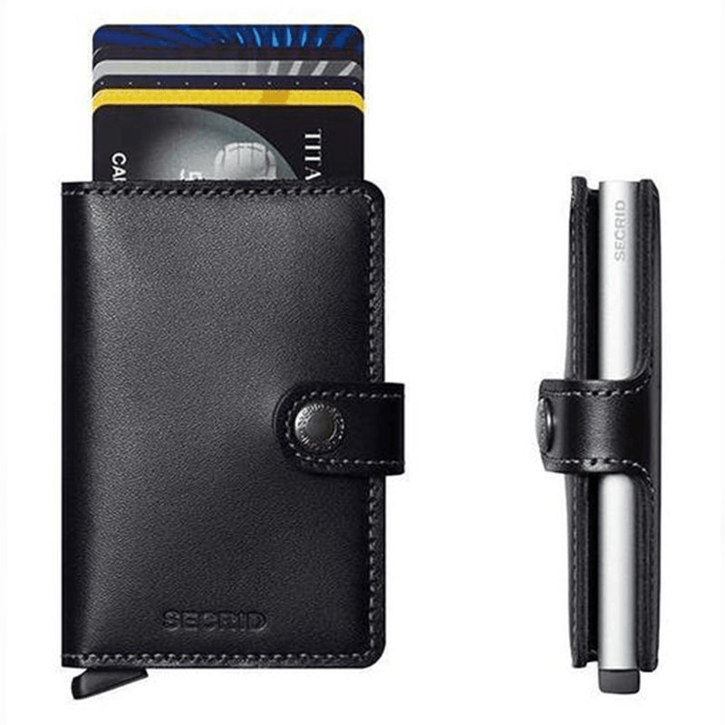 Secrid Miniwallet - Original Black Leather