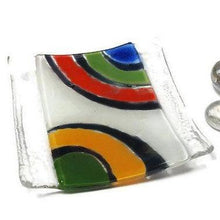 Load image into Gallery viewer, Awesome small tray. Mini Jewelry dish. Recycled fused Glass Ring holder.