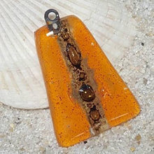 Load image into Gallery viewer, Orange Glass Beads. DIY Pendant Necklace. Jewelry maker elements Recycled Glass - Fiesta Beads