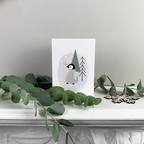 Christmas Penguin Greetings Card